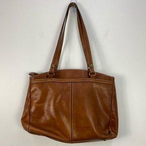 Patricia Nash Poppy Brown Leather Tote Shoulder Bag
